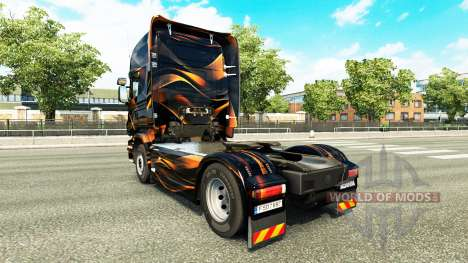 Matte Orange skin for Scania truck for Euro Truck Simulator 2
