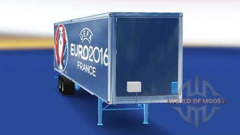 Skin Euro 2016 trailer for American Truck Simulator