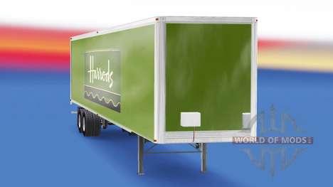Skin Harrods v2.0 on the semi-trailer for American Truck Simulator