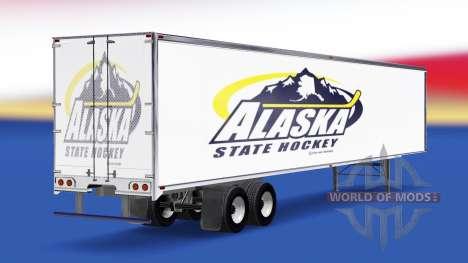 Skin Alaska State Hockey on the trailer for American Truck Simulator