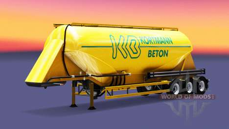 Skin Kortmann Beton is a semi-tank for Euro Truck Simulator 2