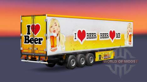 Skin Beer for trailers for Euro Truck Simulator 2