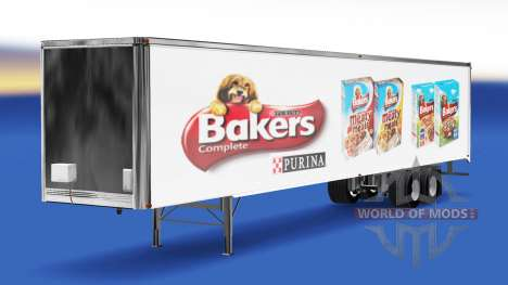 Skin Bakers on the trailer for American Truck Simulator