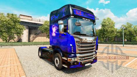 Skin ITS International Transport on tractor Scan for Euro Truck Simulator 2