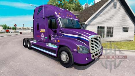 Скин Covenant Transport на Freightliner Cascadia for American Truck Simulator