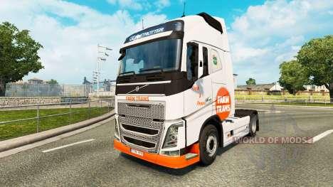 Farm Trans skin for Volvo truck for Euro Truck Simulator 2