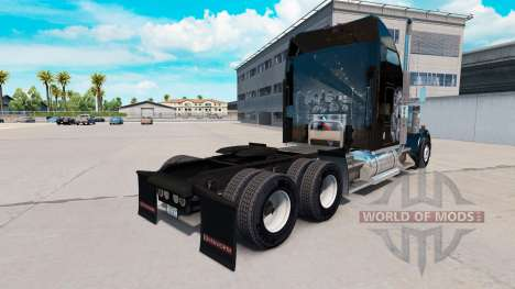 Skin Redskin v1.2 on the truck Kenworth W900 for American Truck Simulator