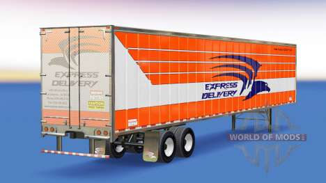 Skin Express Delivery on the trailer for American Truck Simulator