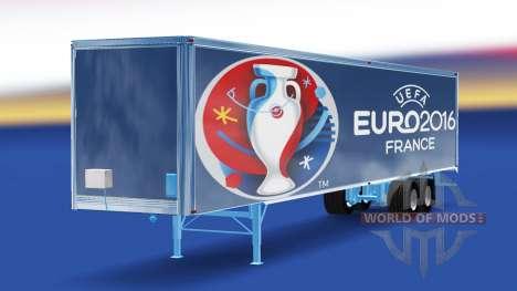 Skin Euro 2016 trailer for American Truck Simulator