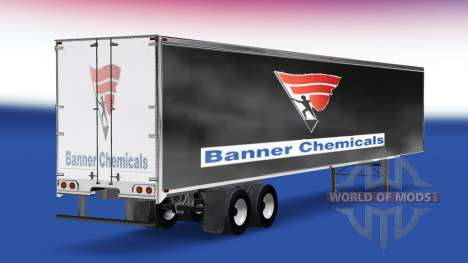 Skin Banner Chemicals v2.0 on the semi-trailer for American Truck Simulator