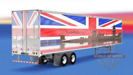 Skin London v1.2 on the trailer for American Truck Simulator