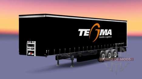 Tegma Logistic skin for trailers for Euro Truck Simulator 2
