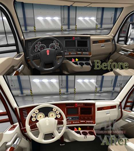 The interior is Retro Dial for Kenworth T680 for American Truck Simulator