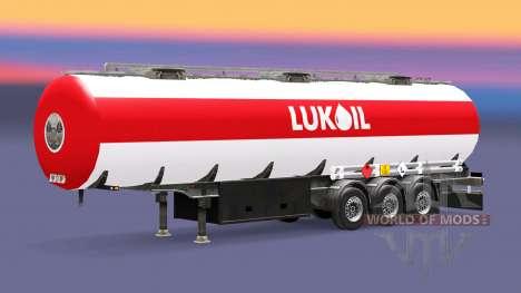 Skin Lukoil fuel semi-trailer for Euro Truck Simulator 2