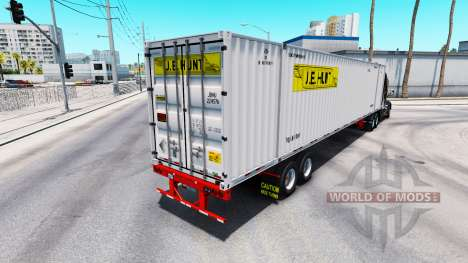 Semitrailer container J. B. Hunt for American Truck Simulator