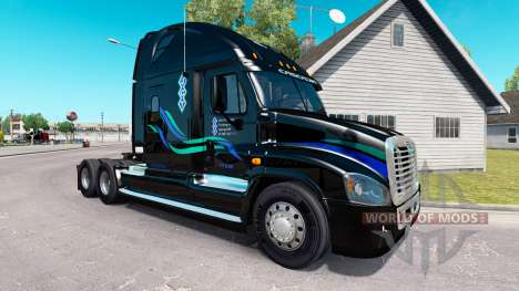 John Christner skin on Freightlin truck Cascadia for American Truck Simulator