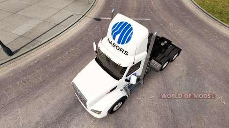 Nabors skin for the truck Peterbilt for American Truck Simulator