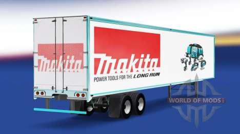 Skin Makita on the trailer for American Truck Simulator