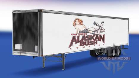 Skin Alaskan Bush Company on the trailer for American Truck Simulator