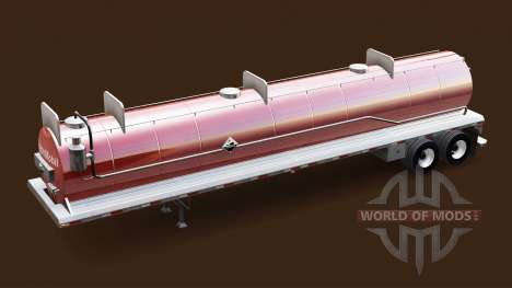 Skin ExxonMobil on the tank for acids for American Truck Simulator