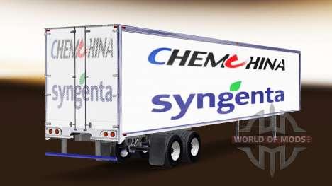 Skin ChemChina & Syngenta on the trailer for American Truck Simulator