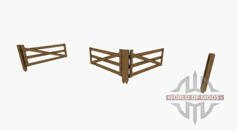 Wooden gate and fence for Farming Simulator 2017