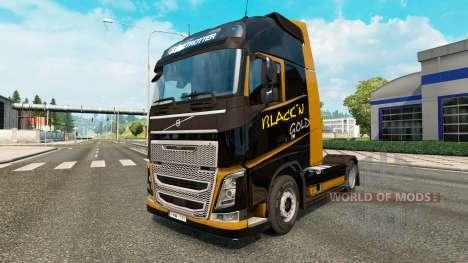 Black Gold skin for Volvo truck for Euro Truck Simulator 2