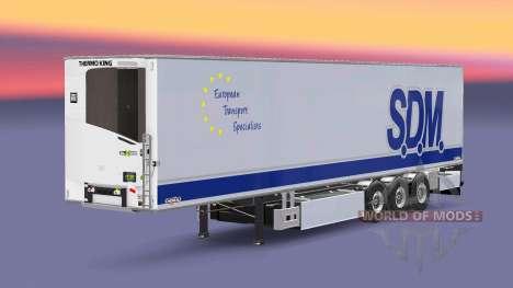 Semi-trailer refrigerator Chereau S. D. M. for Euro Truck Simulator 2