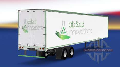 Skin ab&cd innovations on the trailer for American Truck Simulator