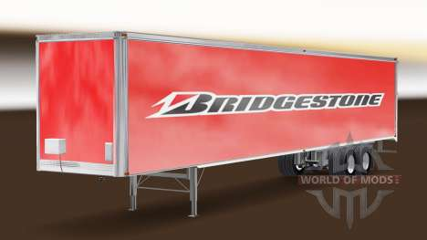 Bridgestone skin on the trailer for American Truck Simulator