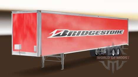 Bridgestone skin on the trailer for American Truck Simulator