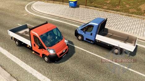 Peugeot Boxer Pickup for traffic for Euro Truck Simulator 2