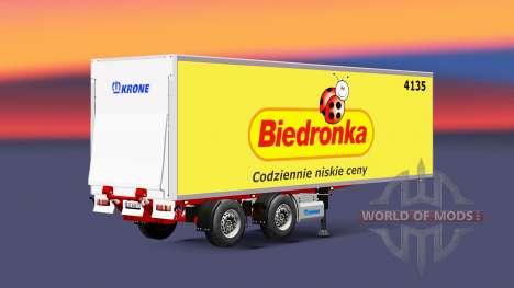 Semitrailer refrigerator Krone Biedronka for Euro Truck Simulator 2