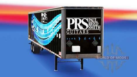 Skin PRS Guitars on the trailer for American Truck Simulator
