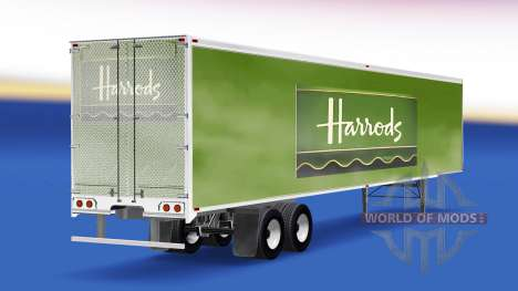 Skin Harrods v2.0 on the semi-trailer for American Truck Simulator