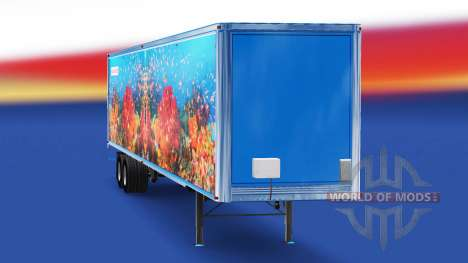 Skin Fish v3.0 on the semi-trailer for American Truck Simulator