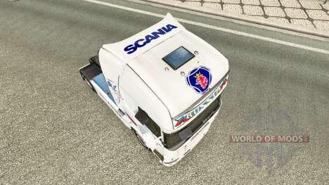 Russia White skin for the truck Scania for Euro Truck Simulator 2