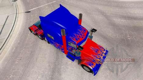 Skin Optimus Prime v2.1 for the truck Peterbilt 389 for American Truck Simulator