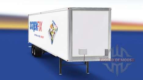 Skin Screwfix on the trailer for American Truck Simulator
