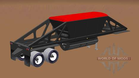 Semi-trailer dumper with bottom discharge for American Truck Simulator