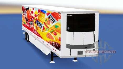 Refrigerated semi-trailer for American Truck Simulator