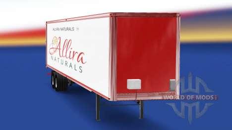 Skin Allira on the trailer for American Truck Simulator