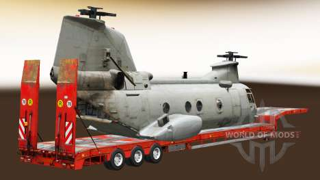 Semi carrying military equipment v1.5 for Euro Truck Simulator 2