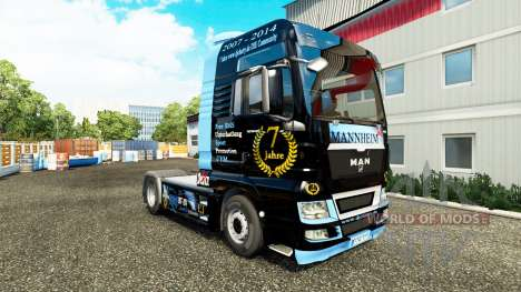 Skin DJ Charty on tractor MAN for Euro Truck Simulator 2
