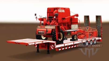 A collection of low-frame trawls with goods for Euro Truck Simulator 2