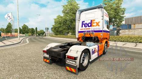 FedEx Express skin for Scania truck for Euro Truck Simulator 2