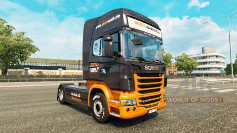 Skin Simuwelt on tractor Scania for Euro Truck Simulator 2