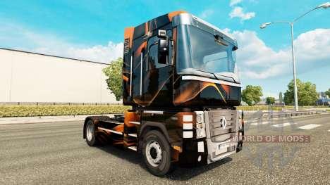 Matte Orange skin for Renault truck for Euro Truck Simulator 2