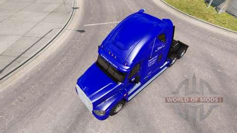 Скин National Carrier на Freightliner Cascadia for American Truck Simulator
