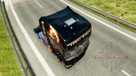 Ghost Rider skin for Scania truck for Euro Truck Simulator 2
